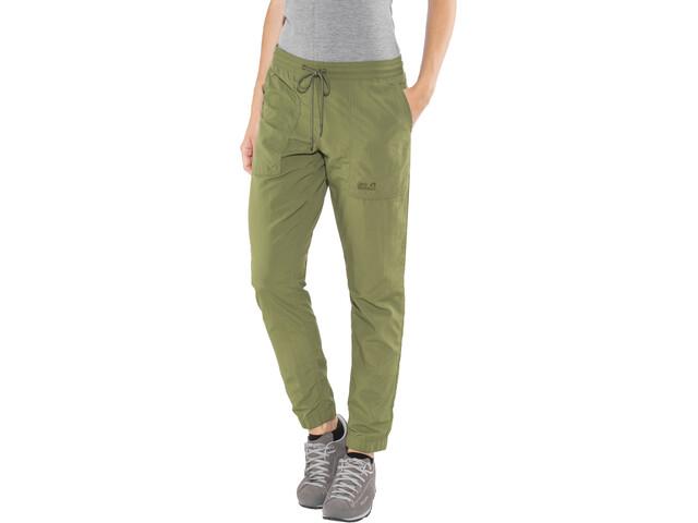 Jack Wolfskin Kalahari Pantalon Femme, woodland green